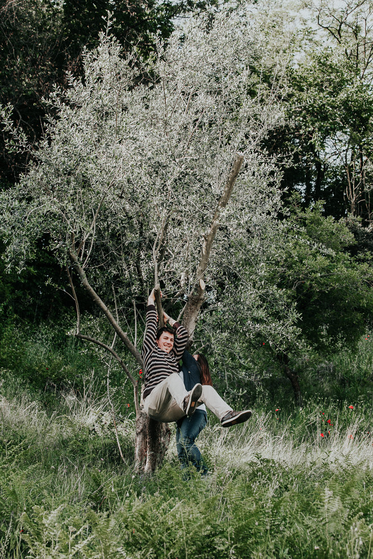 Dreamy Italy Engagement Session in the Vineyard - Intimate